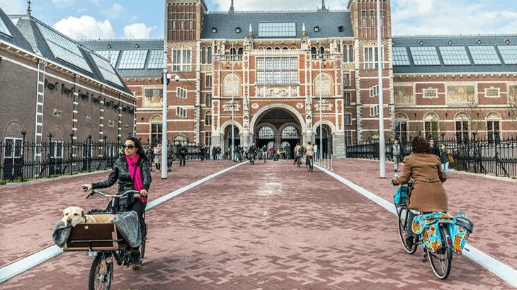 Tunnel per ciclisti sotto il Rijksmuseum