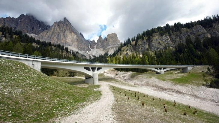 Vista di insieme del ponte