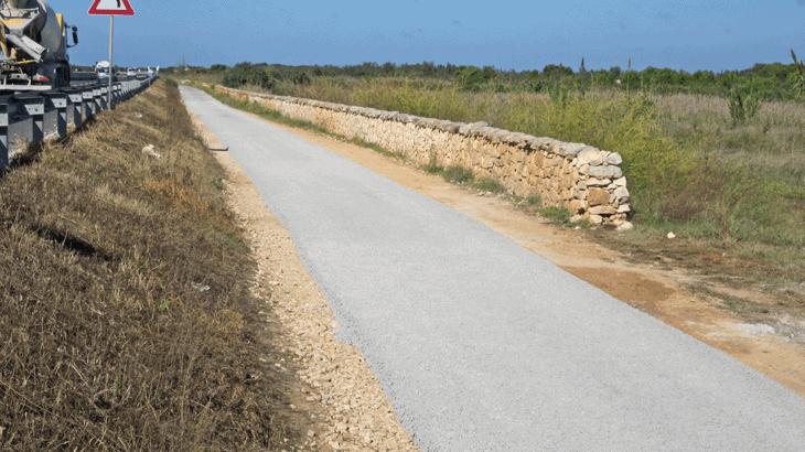 L'i.idro DRAIN sulla pista ciclabile di Torre del Guaceto (BR)
