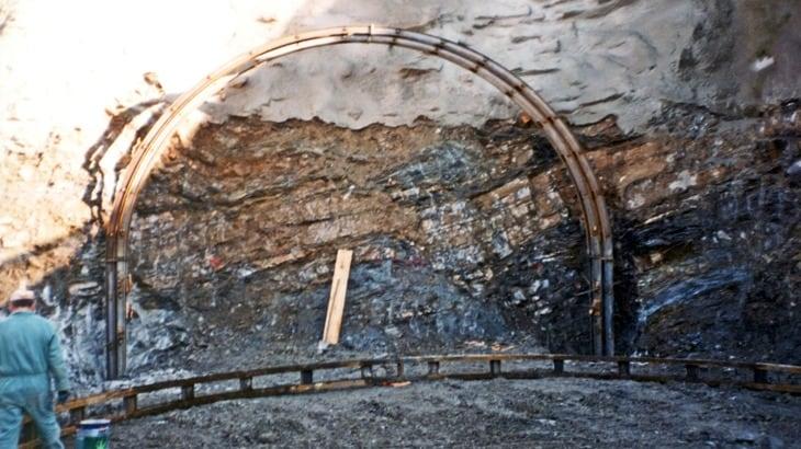 La preparazione del fronte di scavo