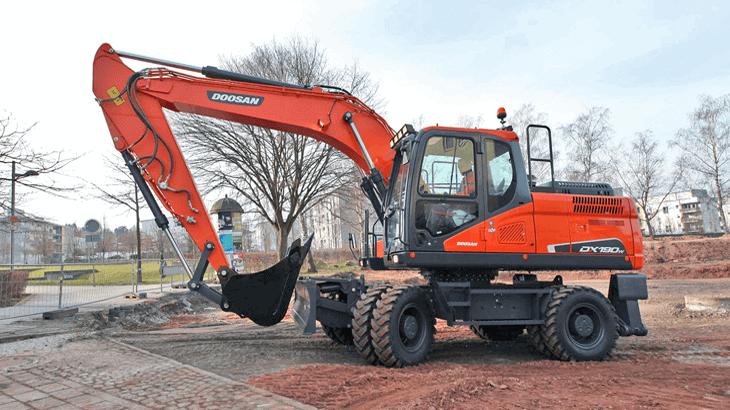 L'escavatore Doosan DX190W-5