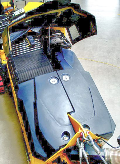 Il nastro trasportatore può essere orientato sia a sinistra che a destra di 45°