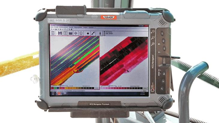 Il sistema HCQ Navigator registra vari dati materiali del terreno