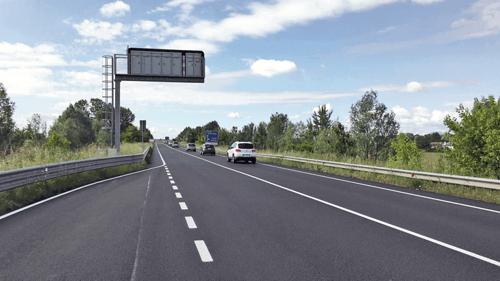 L'esito dei lavori una volta messo in sicurezza il tratto stradale
