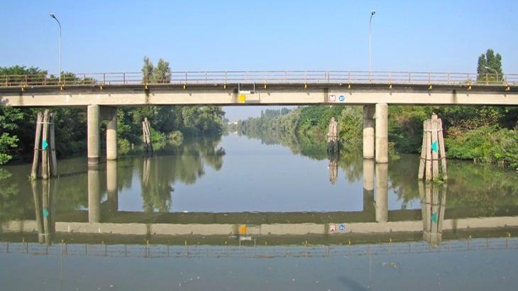 Vista del ponte Canozio preesistente