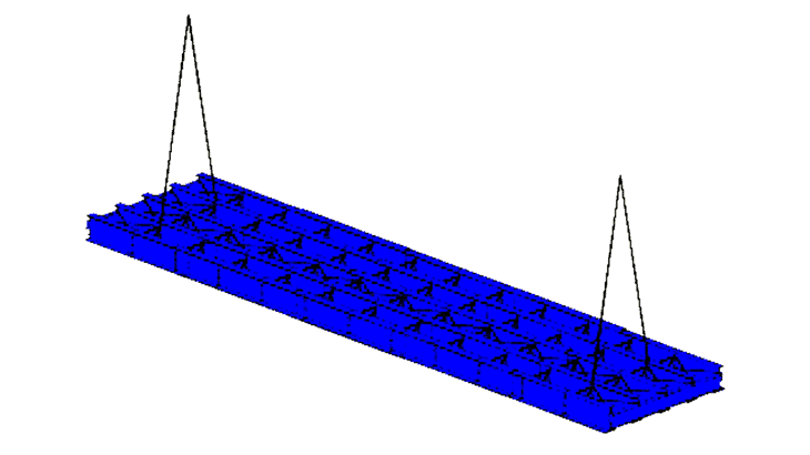 La struttura del viadotto