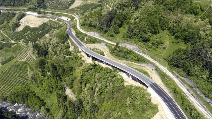 Vista aerea del viadotto 1