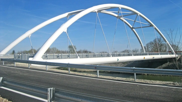 Vista del nuovo ponte Canozio