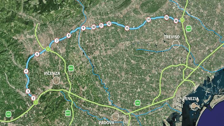 La planimetria del tracciato