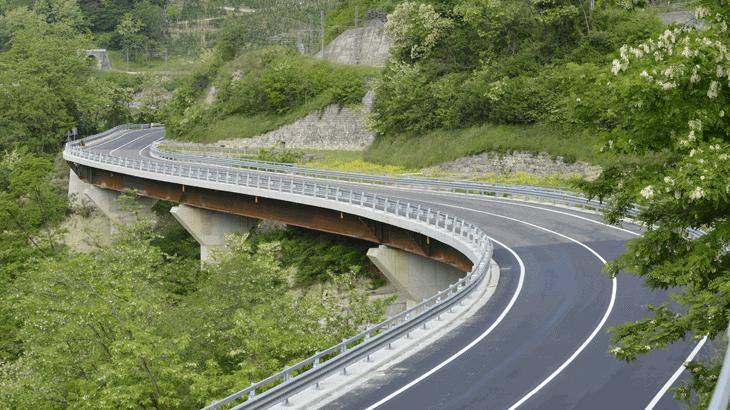 Il viadotto 1 a lavori ultimati