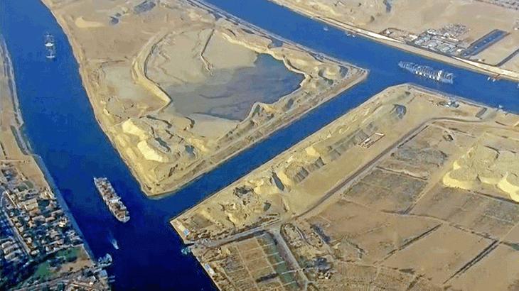 Vista del canale di Suez