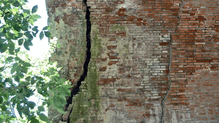 Fessurazioni nell'arco in muratura di Ponte Grosso