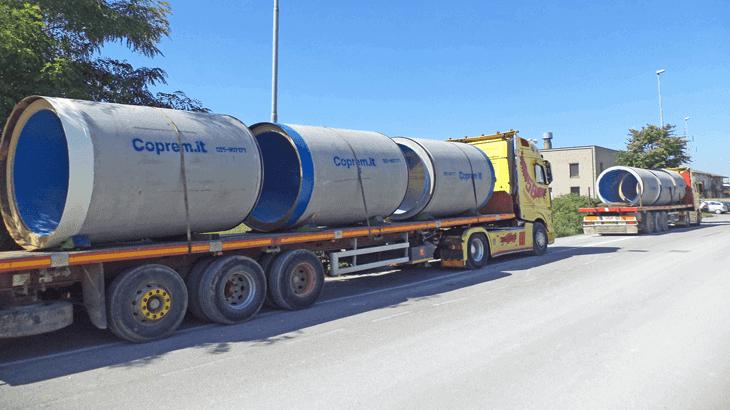 Il trasporto verso il cantiere
