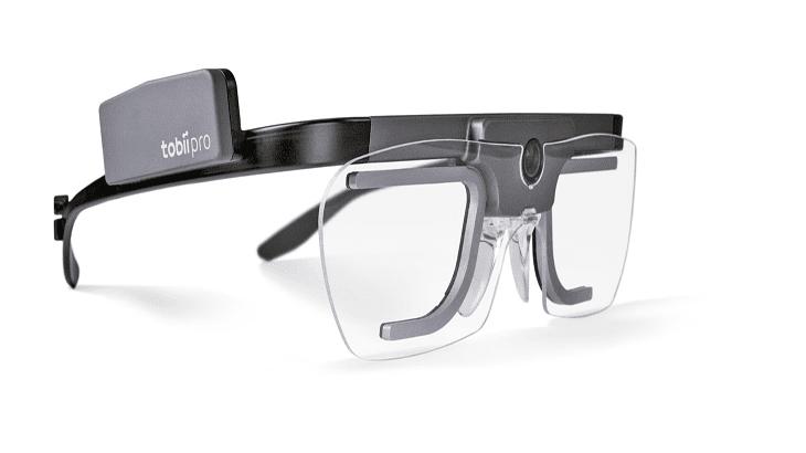 Un esempio di eye-tracker portatile montato su occhiali