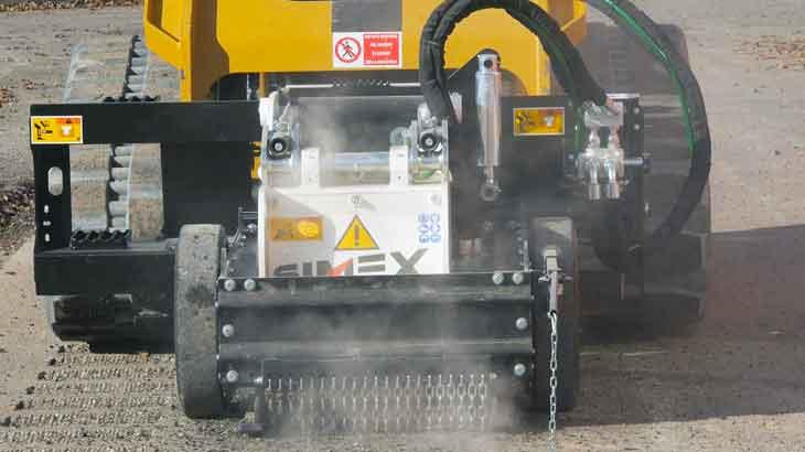 La RS 16 può essere montata sia su pale compatte sia su pale caricatrici, articolate e non, di piccole dimensioni