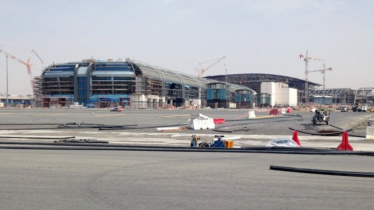 Il cantiere dei nuovi terminal
