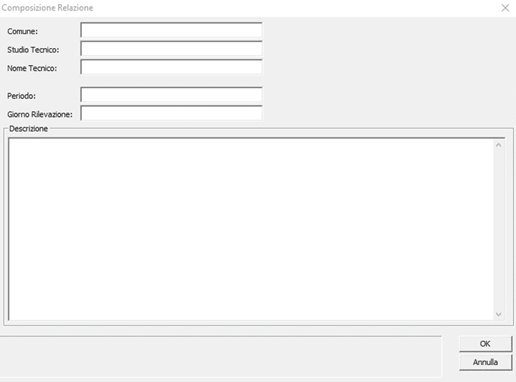 La composizione relazione di RotaCalc