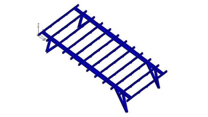 Lo schema della trave trasversale su appoggi cedevoli