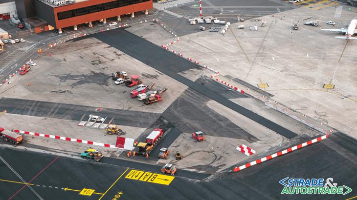 """L'intervento di miglioramento e manutenzione dell'Apron 100 sul piazzale Est all'aeroporto di Firenze-Peretola """"Amerigo Vespucci"""""""