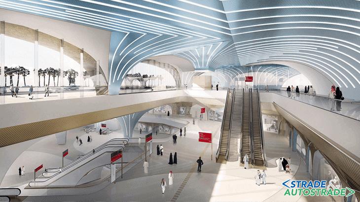 Il rendering di una delle future stazioni della metropolitana