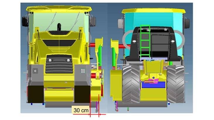 La flessibilità operativa consente di trattare terreni con rotore traslabile lateralmente a sinistra e a destra
