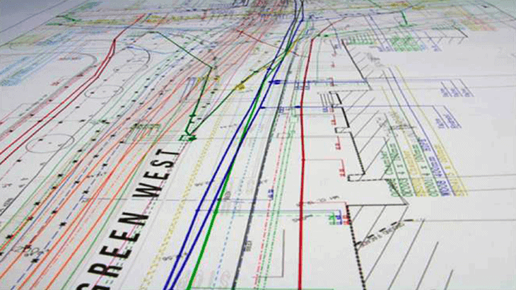 Un esempio di mappa, generata in automatico dal software Gred HD CAD, in formato AutoCAD (.dwg)