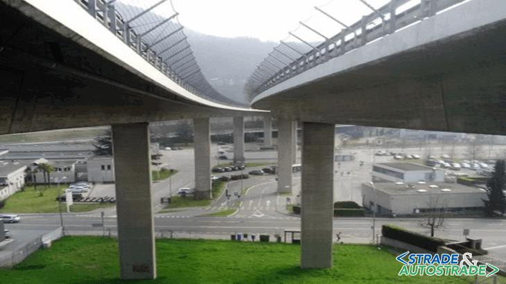 Il viadotto delle Fornaci sulla A2 a Lugano (Svizzera)