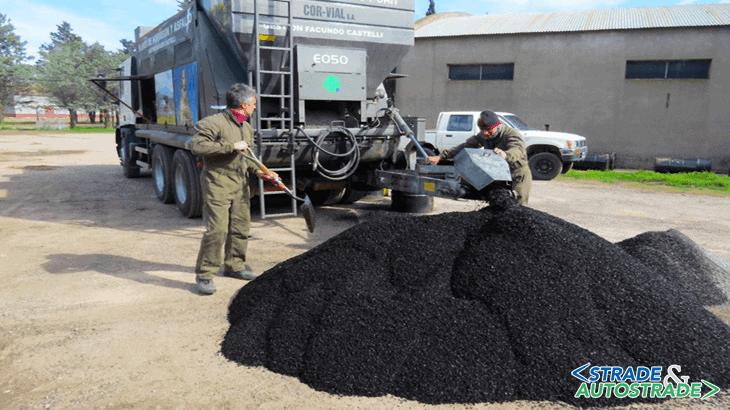 Un esempio di produzione di asfalto a freddo