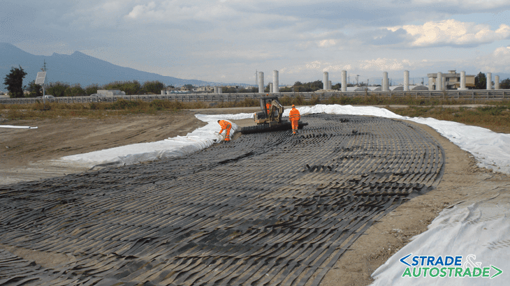 Rilevati in terra rinforzata rinverdibile per le rampe di cavalcavia