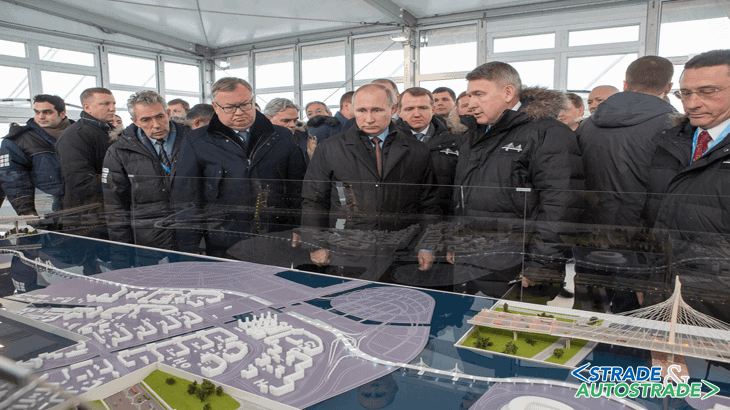 L'inaugurazione alla presenza del Presidente Vladimir Putin