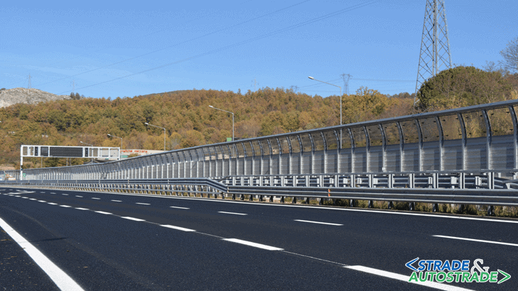 La barriera H 5 m con difrattore di rumore in località Renazza Nord