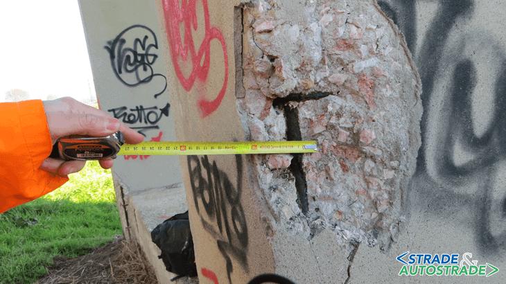 Il viraggio a 7 cm di profondità sulla pila zona inferiore