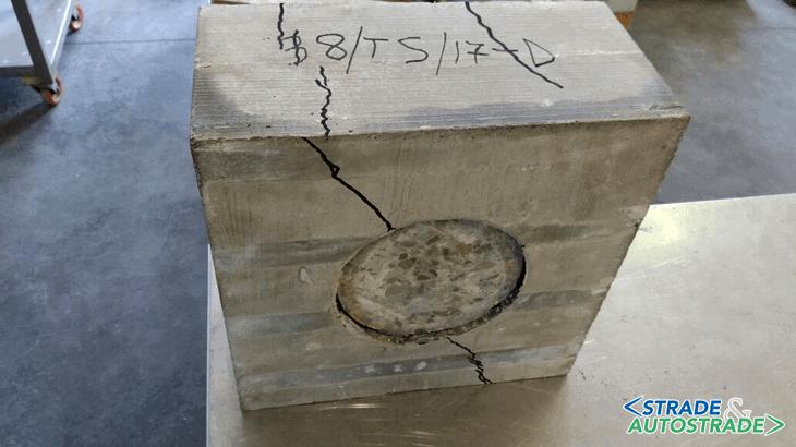 Lo scorrimento post-rottura del cilindro rispetto al betoncino fibrorinforzato di incamiciatura