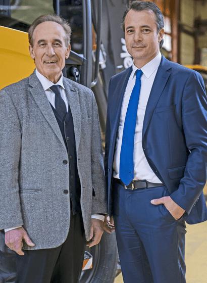 Da sinistra, Henri e Alexandre Marchetta, rispettivamente Fondatore Presidente e Vice Presidente di Mecalac