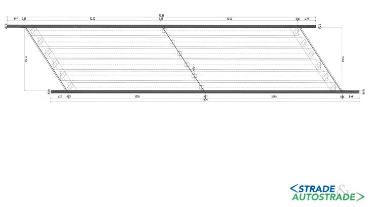 La planimetria dello stato di fatto dell'impalcato