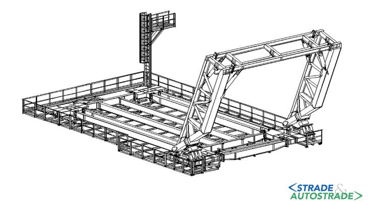 Vista tridimensionale del modello costruttivo del carro