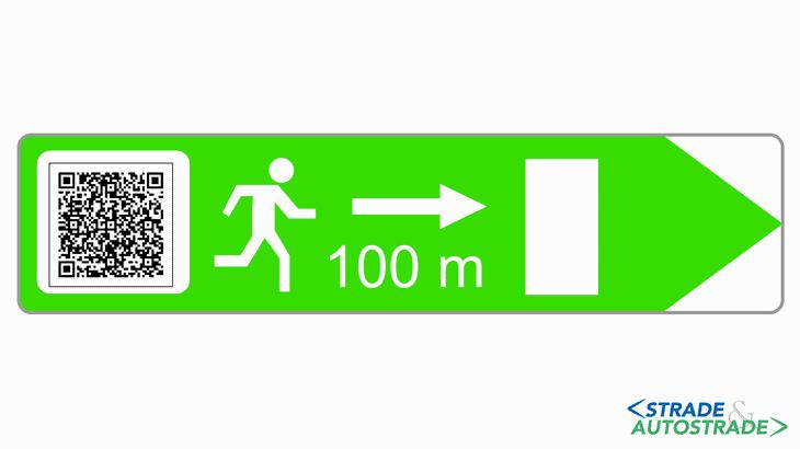 Un'ipotesi di segnale di evacuazione integrato con codice QR