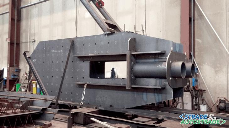 Il premontaggio dell'ancoraggio delle funi