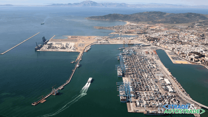 Vista del porto di Algeciras