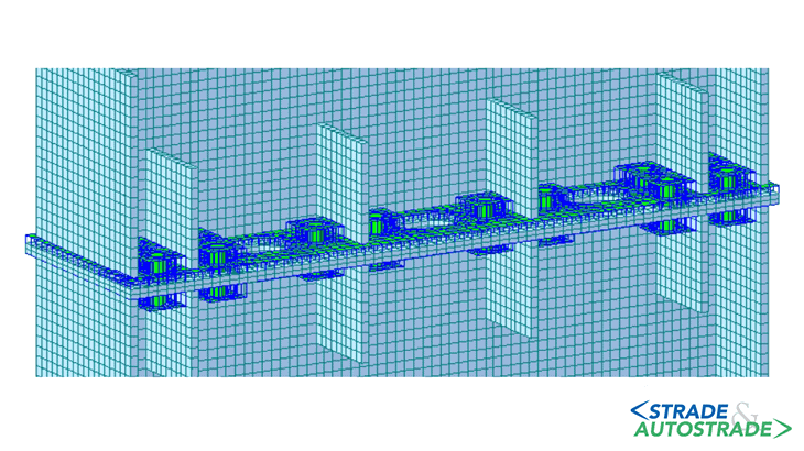 La modellazione FEA della flangia di collegamento