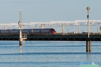 Sul ponte translagunare della Venezia-Mestre