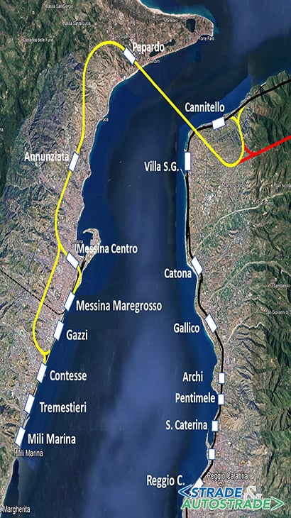 Un collegamento stabile nello Stretto di Messina