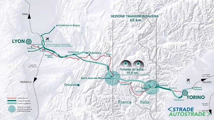 Il tracciato della Torino-Lione