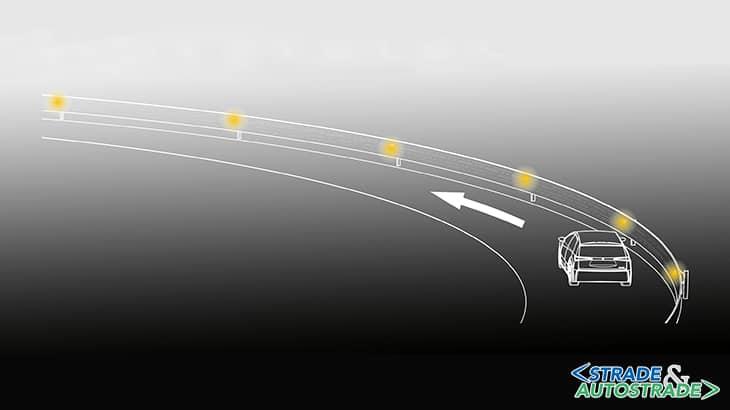 Una guida di luce per la sicurezza stradale